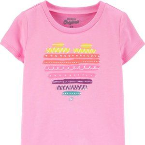 Carter's Originals Graphic Tee Colourful Hearts 3T